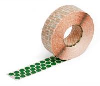 grüne Markierungspunkte aus Gewebe