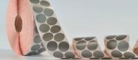 ECO-Punkte aus silbergrauem Gewebe, 30 mm Ø