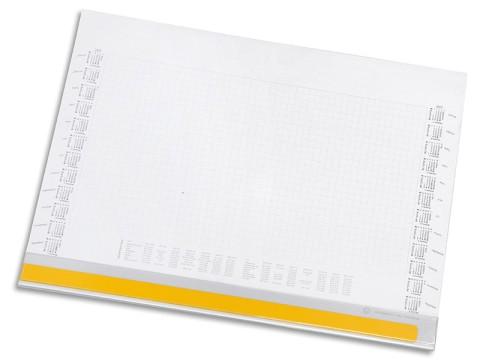 Selbstklebende Abdeckleiste für Schreibtischblocks