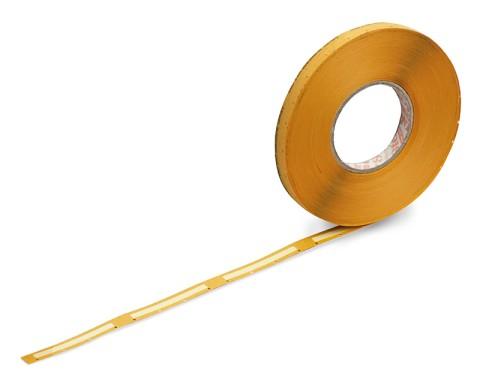 SMD-Gurtverbinder für 8 mm Gurte, nicht ESD-gerecht, gelb, in Rollenform