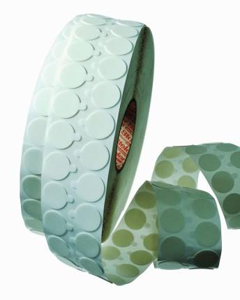 Klebepunkte aus beidseitig klebendem, weißen Polyethylen-Schaum, permanent klebend