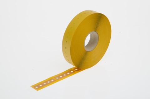 Gurtverbinder für Radial-Gurtung, aus selbstklebendem Papier, 16 x 63 mm, braun