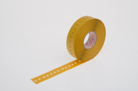 Gurtverbinder für Radial-Gurtung, aus selbstklebender Folie, 16 x 63 mm, transparent