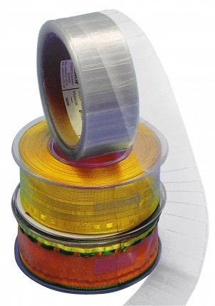 Verschlussmarken, transparent, 30 x 12 mm, extrem stark klebend