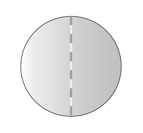 mittig perforierte Verschlussmarken, 25 mm Ø, mit rückseitiger Spendermarkierung für Fotozellenerkennung