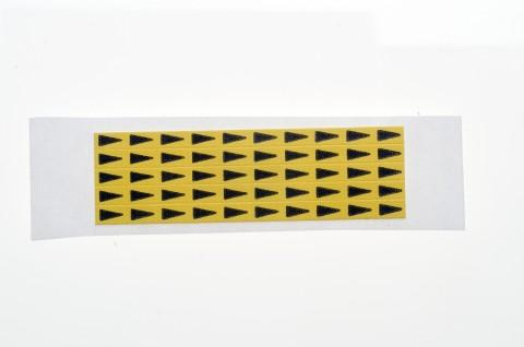 gelbe Minipfeile zur Fehlerkennzeichnung auf Leiterplatten, 5 x 3 mm
