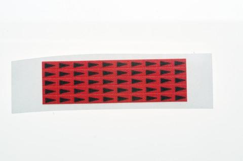 rote Minipfeile zur Fehlerkennzeichnung auf Leiterplatten, 5 x 3 mm