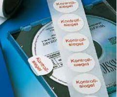 """Foliensiegel, weiß, Aufdruck """"Kontrollsiegel"""", 30 mm Ø"""