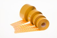 double-sided self-adhesive non-woven fibre fabric dots with permanent adhesive