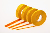 SMD-Gurtverbinder für 8, 12, 16, 24 mm Gurte, ESD-gerecht, orange, in Rollenform