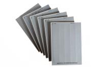 silbermatte Etiketten für Beschriftungen per Laserdrucker, Polyesterfolie, VE = 50 Bogen,