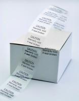 Foliensiegel, transparent, mit Aufdruck, 30 x 20 mm