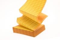 gelbe Geräte-Kennzeichnungsschilder mit Lochrand für Matrix-/Nadeldrucker, VE = 100 Bogen,