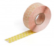 yellow self-adhesive fabric marking dots