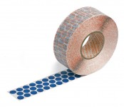 blue self-adhesive fabric marking dots 12 mm