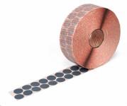 graue Markierungspunkte aus Gewebe auch zum Befestigen von Transportzetteln an KLTs und Gitterboxen 25 mm
