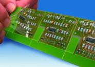 SMD-Probebestückungsbogen für Bauteil-Fixierung, beidseitig selbstklebend, DIN A4, transparent