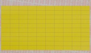 yellow fabric equipment labels for manual marking, supplied in packs of 100 sheets 10 x 20 mm, 100 Etiketten/Bg.