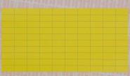 gelbe Geräte-Kennzeichnungsschilder aus Gewebe zur manuellen Beschriftung, VE = 100 Bogen, 10 x 20 mm, 100 Etiketten/Bg.