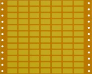 yellow equipment labels with perforations for tractor feed printers; supplied in packs of 100 sheets 10 x 20 mm, 84 Etiketten/Bg.