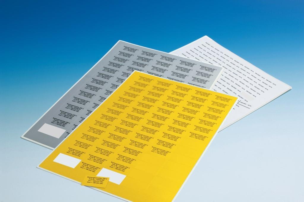 PET-Etiketten für Laserbeschriftung
